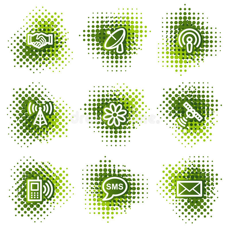 通信图标万维网 库存例证
