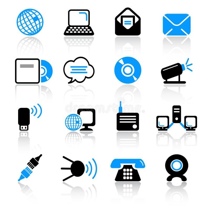 Download 通信图标 向量例证. 插画 包括有 技术, 连接数, 按钮, 电话, 电信, 界面, 推进, 全球, 通知 - 22354634
