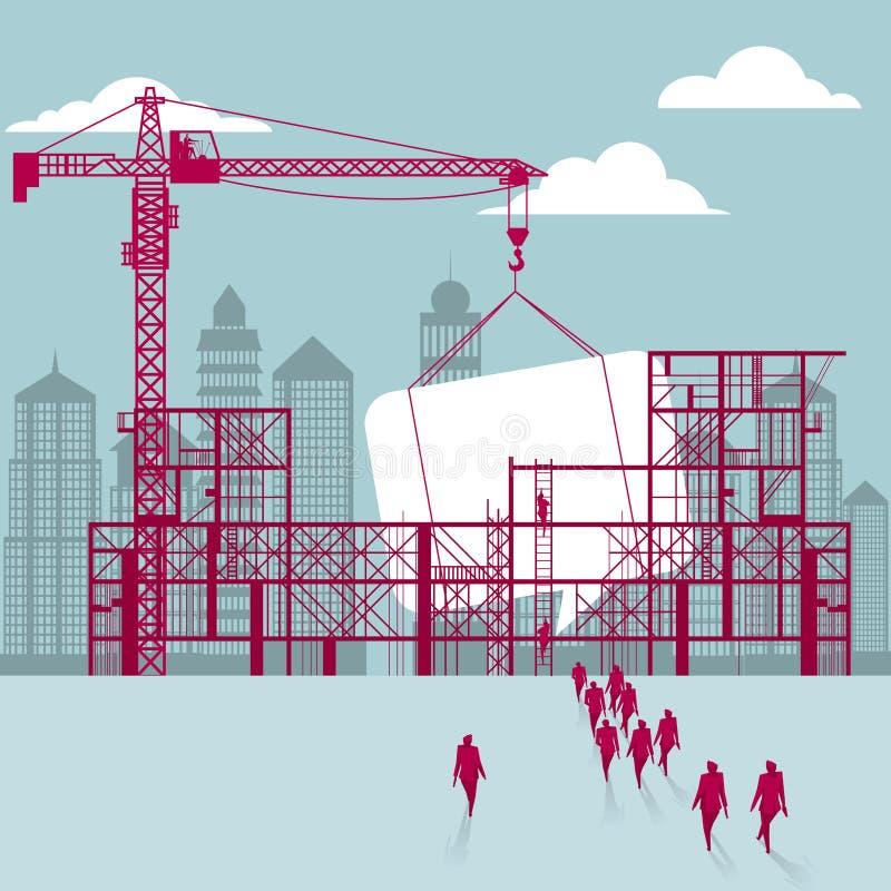 通信在建筑 向量例证