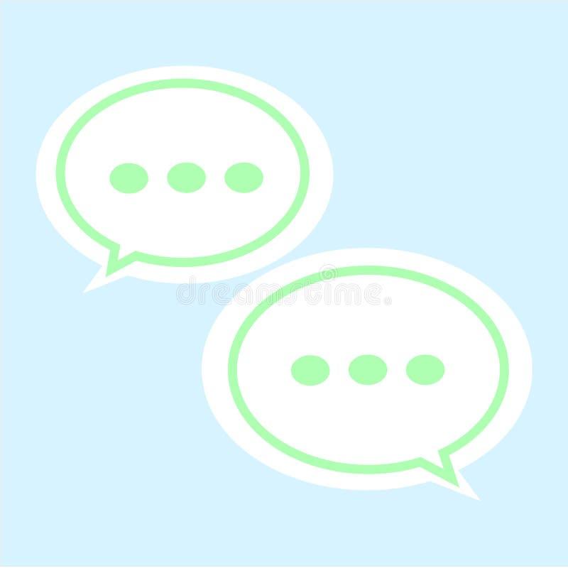 通信在白色背景的泡影象 聊天的标志 平的样式 讲话您的网站设计的泡影象,商标,应用程序 库存例证