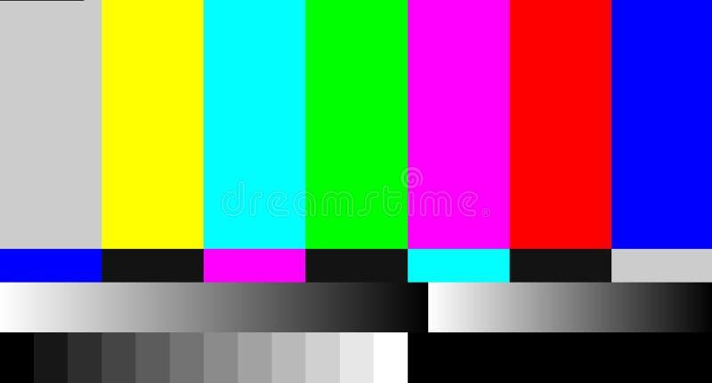通信失踪图象被撕毁的网络电视损失  库存例证