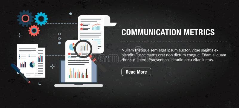 通信度规,有象的横幅互联网在传染媒介 向量例证