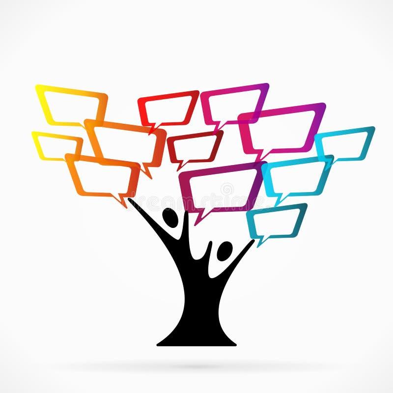通信树 库存例证