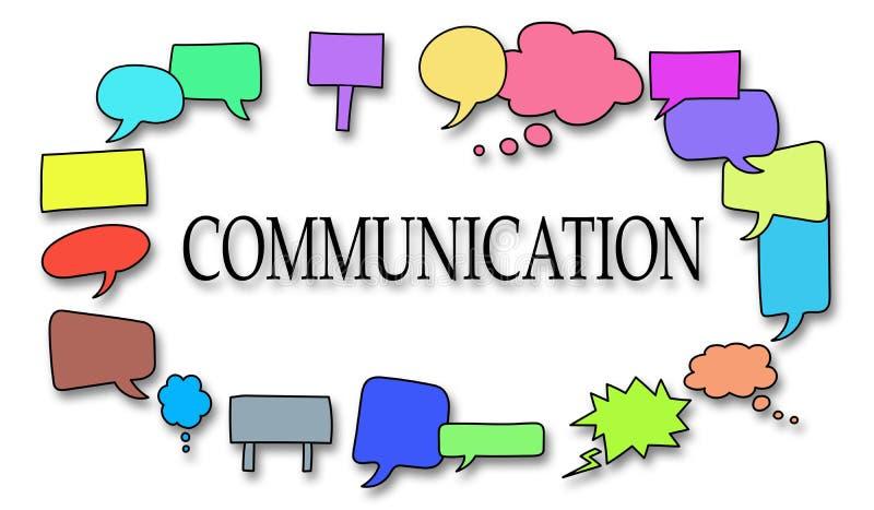 通信的概念 向量例证