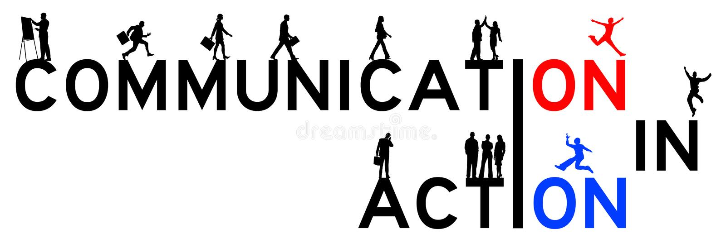 通信行动 向量例证