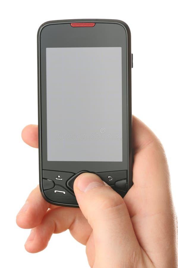 通信设备触摸屏 库存照片