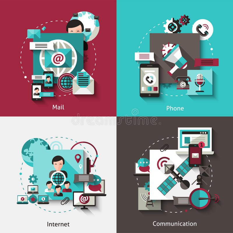 通信设计观念集合 向量例证
