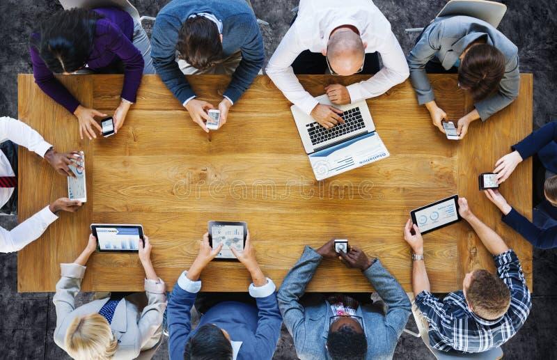 通信连接数字式设备技术概念 免版税库存照片