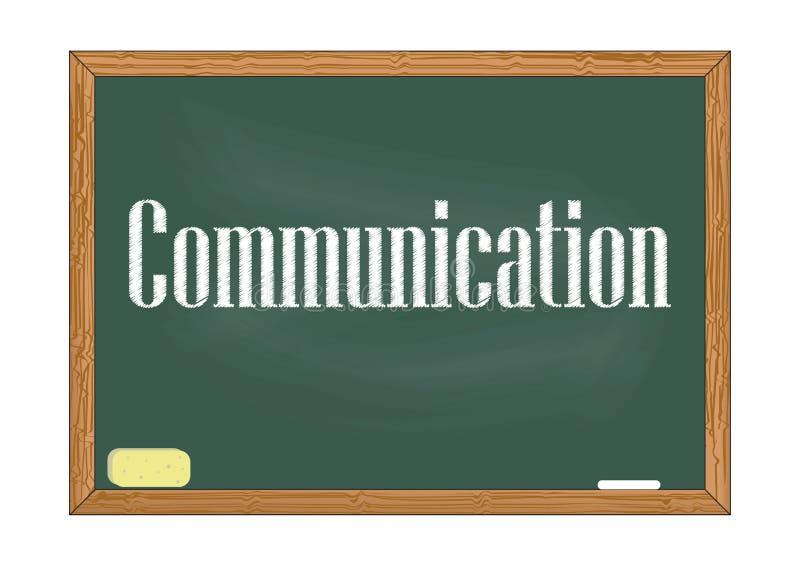 通信黑板通知传染媒介例证 库存例证