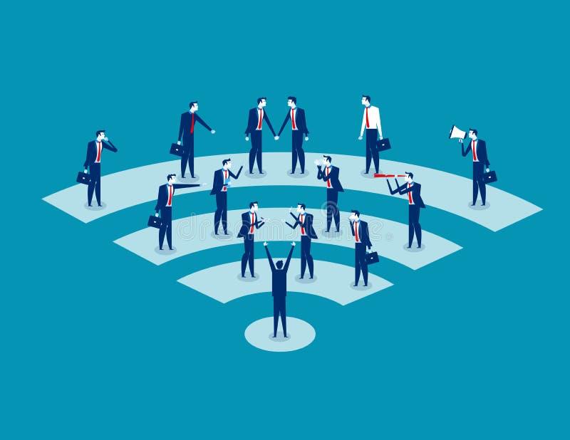 通信 营业通讯人 概念事务v 向量例证