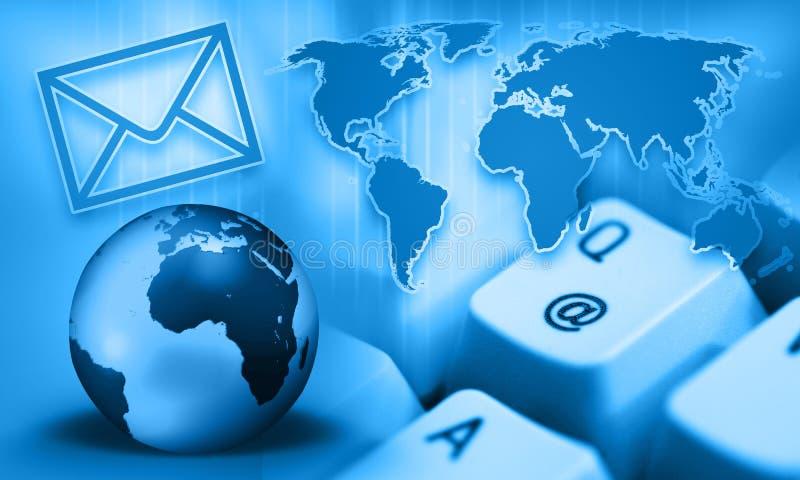 通信e interrnet邮件 皇族释放例证