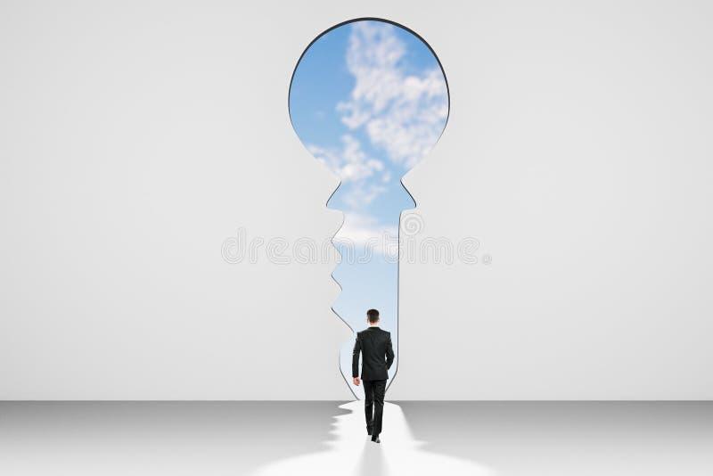 通入和领导概念 库存图片