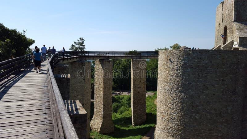 通入桥梁在堡垒 库存照片