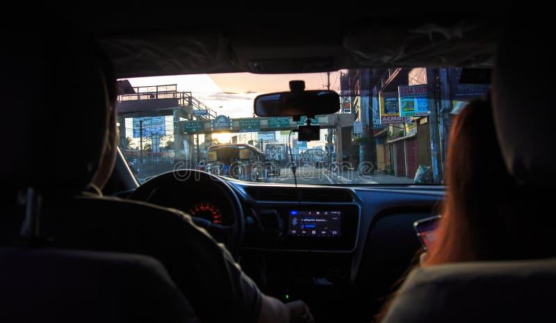 通勤在菲律宾 库存照片