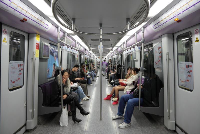 通勤者地铁上海 库存图片
