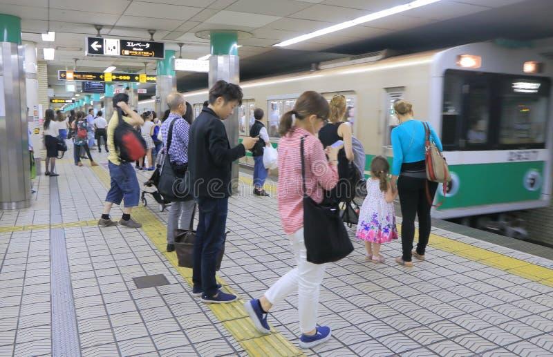 通勤者大阪日本 库存图片