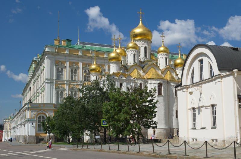 通告大教堂在克里姆林宫,俄罗斯 免版税图库摄影
