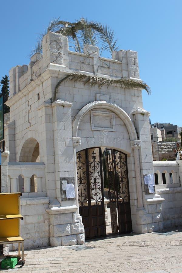 通告的希腊东正教,拿撒勒,以色列 免版税库存照片