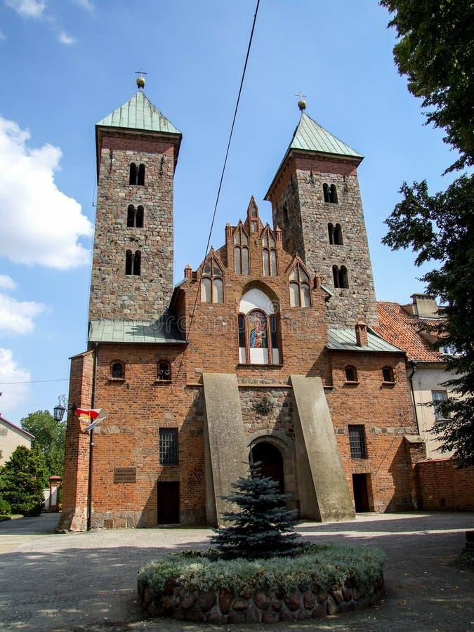 """通告的教会对保佑的圣母玛丽亚的CzerwiÅ """"sk nad WisÅ '的Ä…在波兰 库存图片"""