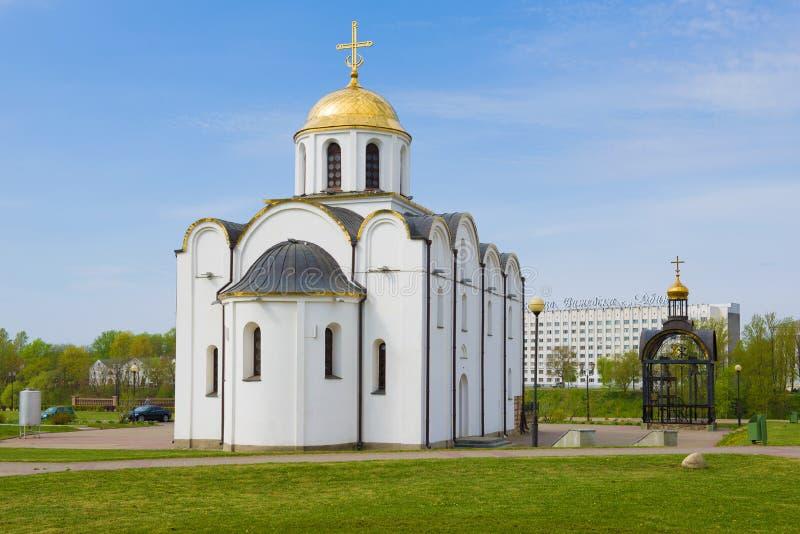 通告的教会,晴朗的劳动节 维帖布斯克,白俄罗斯 免版税库存图片