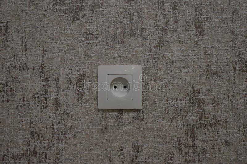 通常电子出口在厨房里 免版税库存照片