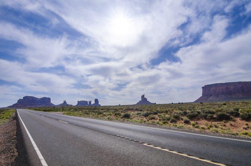 通往大峡谷之路 免版税库存图片
