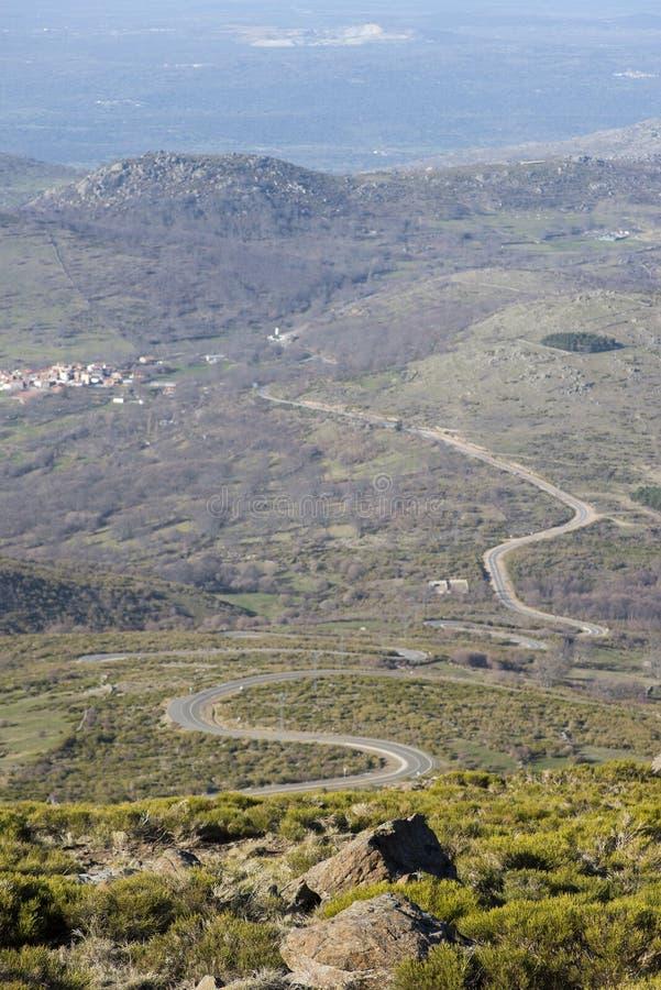 通往贝贾尔山脉科瓦蒂亚天空站的公路 免版税库存照片