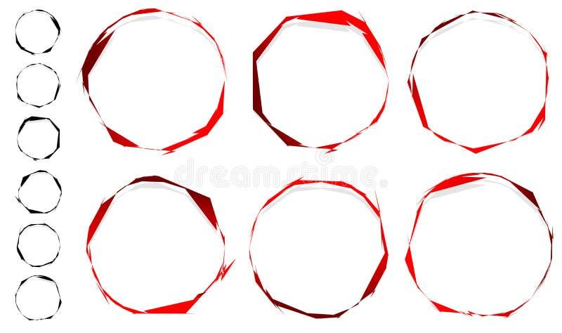 通报被绘的圈子 脏,织地不很细圈子集合.图片