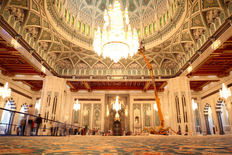 通用全部清真寺阿曼视图 免版税库存照片