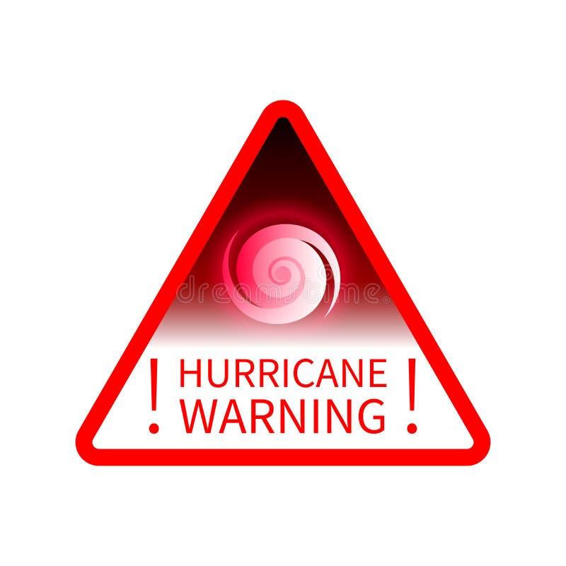 通知关于飓风的警报信号 库存例证