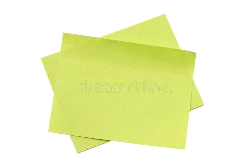 通知单纸张 库存图片