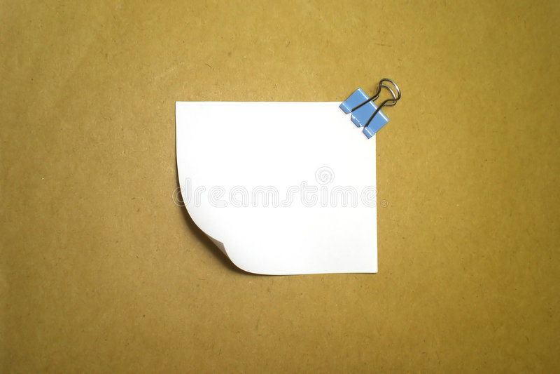 通知单纸白色 免版税库存图片