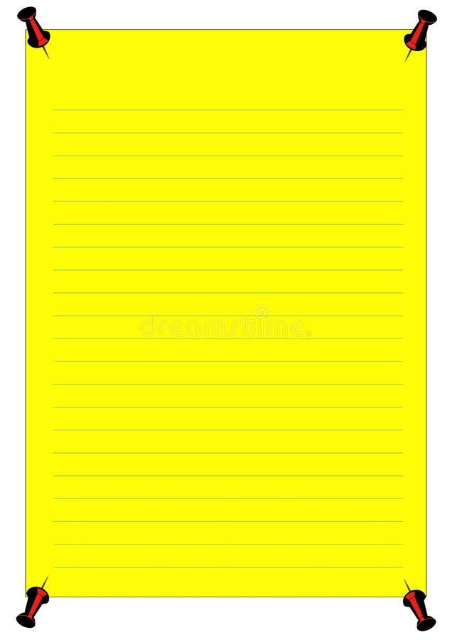 通知单黄色 库存例证