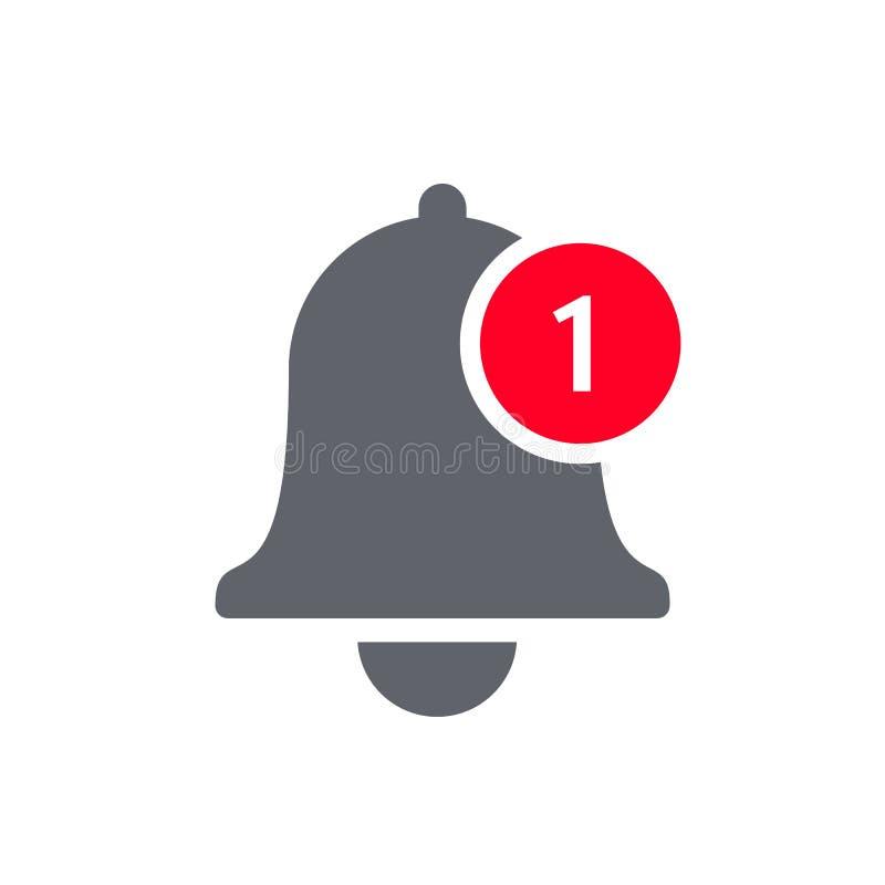 通知响铃象传染媒介inbox消息 库存例证