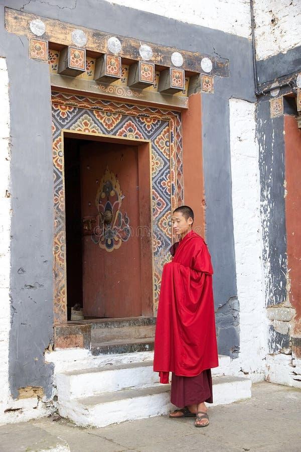 通萨的Dzong,通萨,不丹和尚 图库摄影
