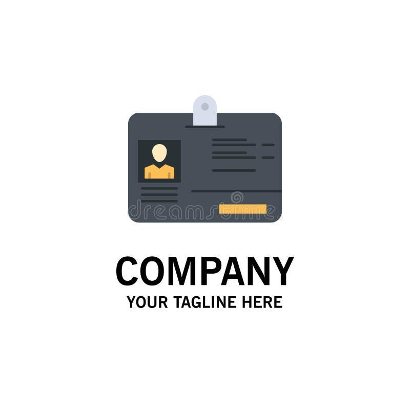 通行证,卡片,身分,Id企业商标模板 o 向量例证