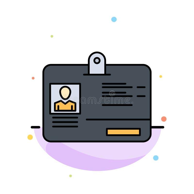 通行证,卡片,身分,Id摘要平的颜色象模板 向量例证