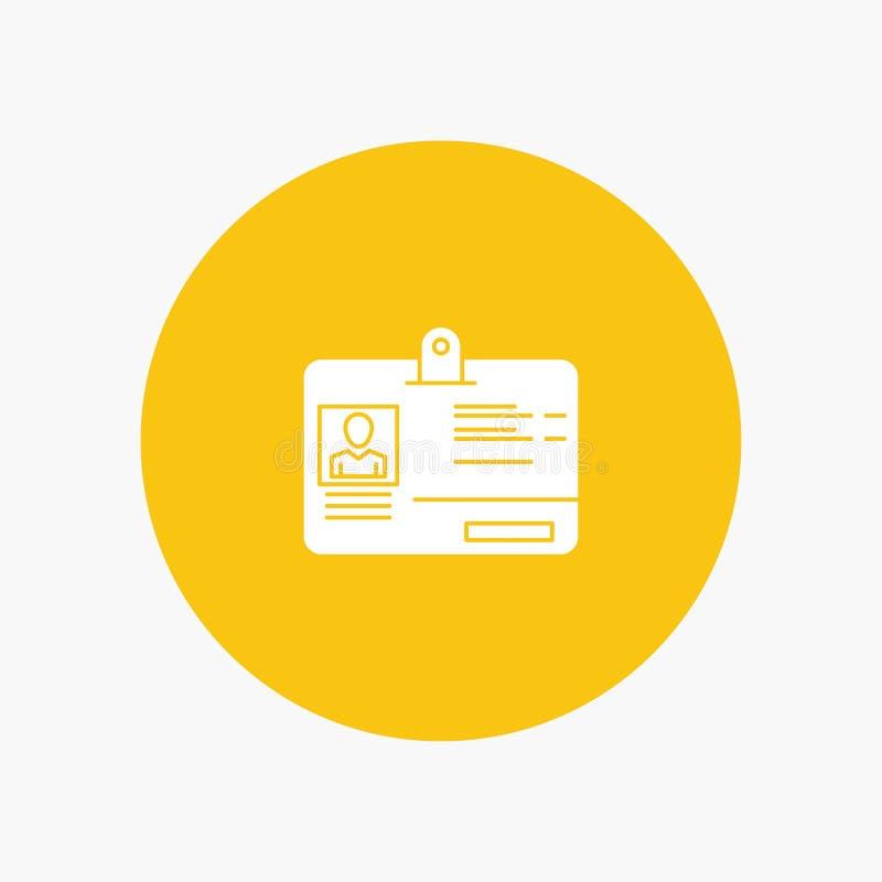 通行证,卡片,身分,Id 库存例证