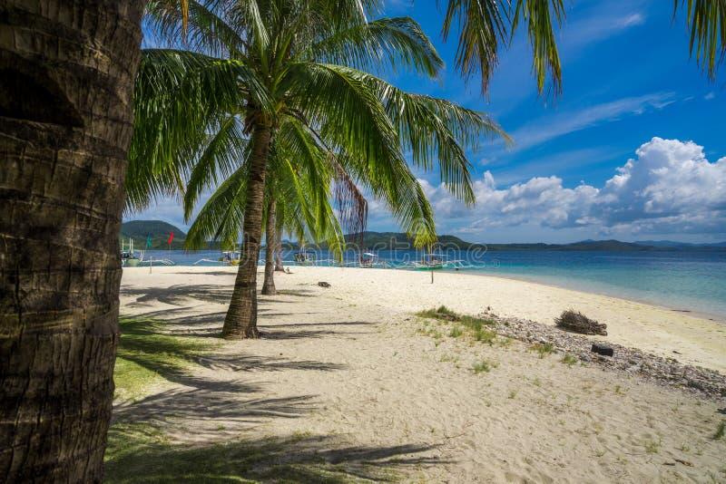 通行证,巴拉望岛,菲律宾美丽的热带海岛  库存图片