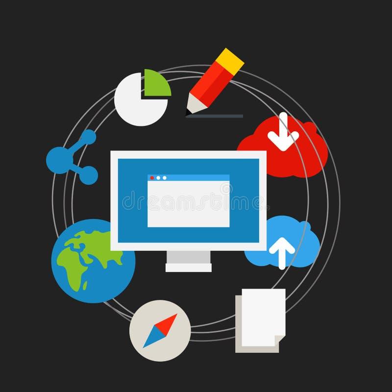 通讯技术概念 库存例证
