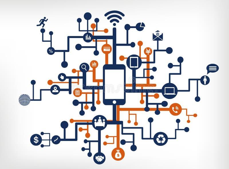 通讯网络 向量例证
