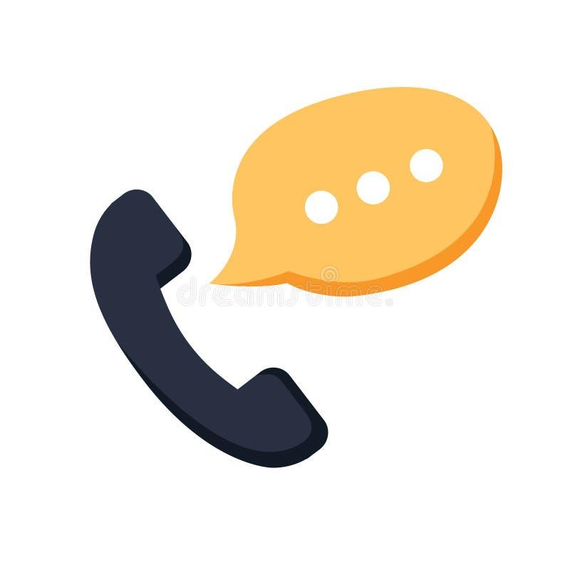 通话电话标志象 电话中心,通信象电话细胞标志 聊天或电话中心 皇族释放例证
