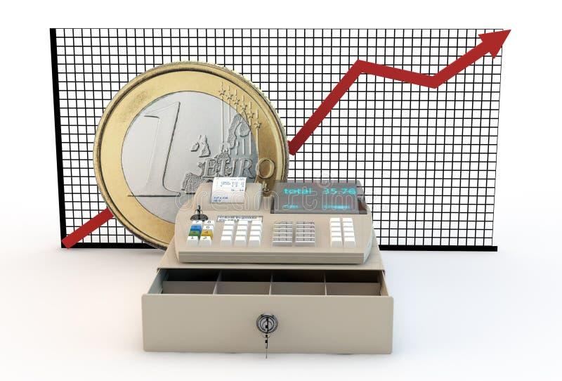 通货膨胀和欧元 库存例证