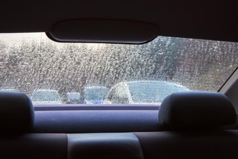 通过一个湿窗口 库存图片