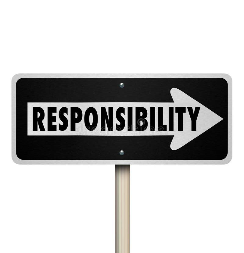 通过工作义务工作代表一个方式标志的责任 向量例证