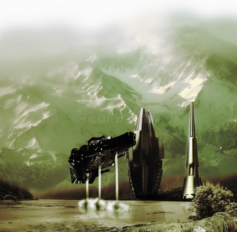 通过拓殖其他行星 皇族释放例证