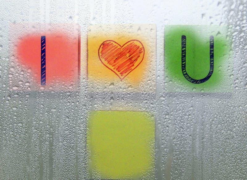 通过湿玻璃 库存照片