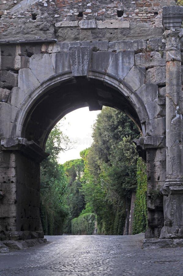 通过appia,罗马 免版税图库摄影