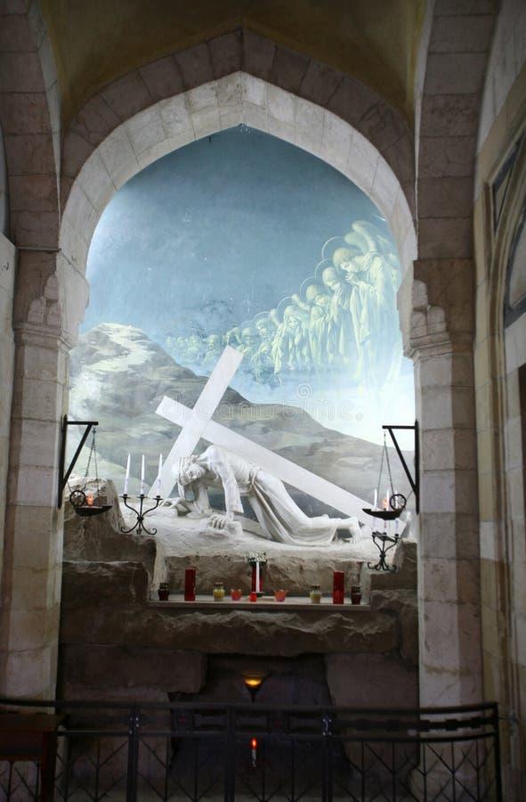 通过Dolorosa,第3个苦路,耶路撒冷 免版税库存图片