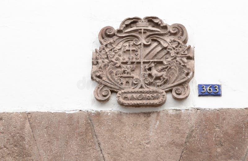 通道门环,库斯科,秘鲁 库存图片